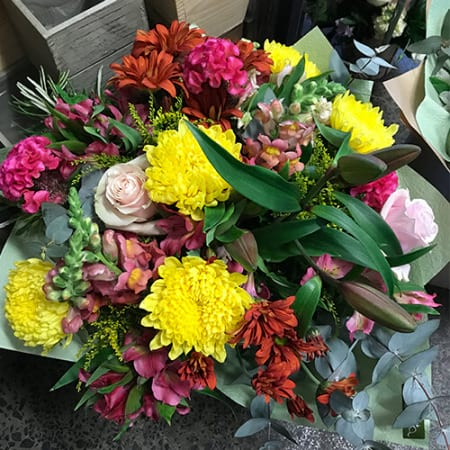 Warm Coloured Celebration Size Bouquet