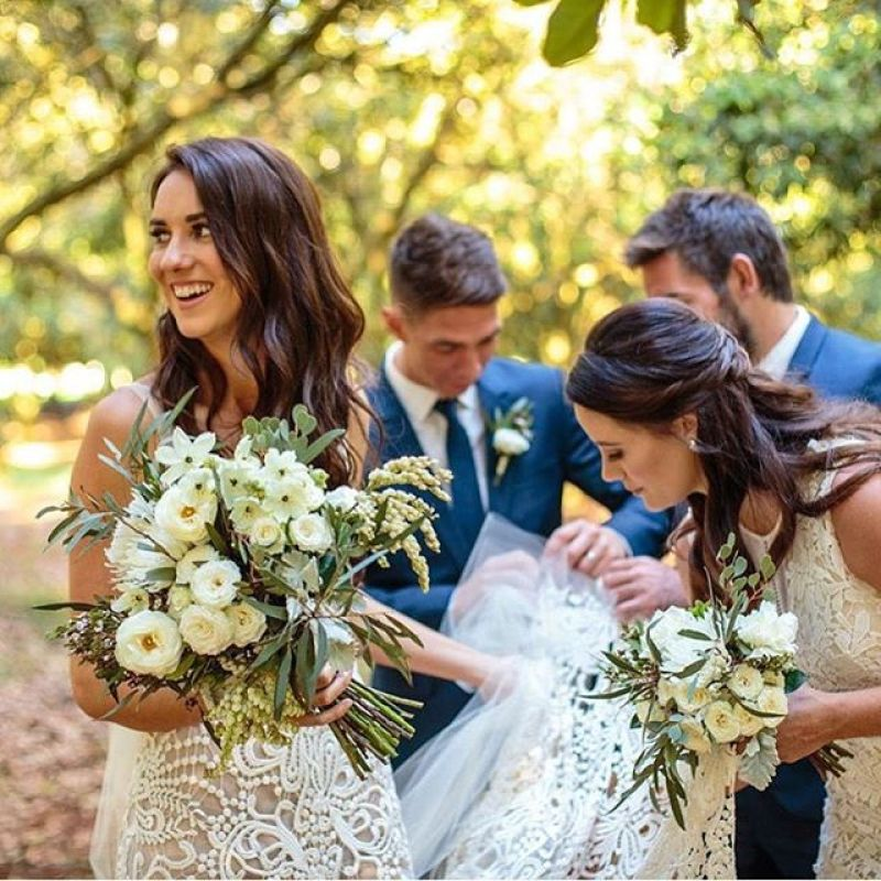 Ash and her bouquet, Ben Wyeth Photography