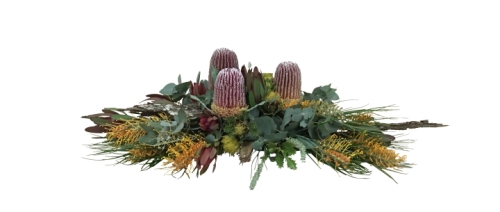 Banksia and Bark Funeral Tribute
