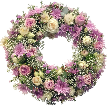 Wreath of Pink Flowers