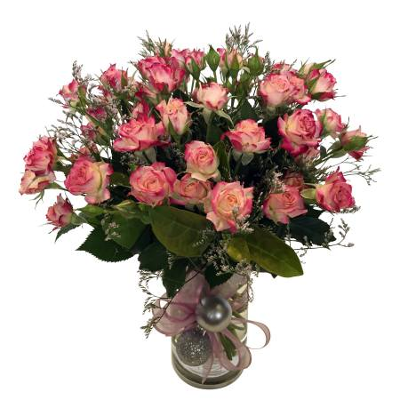 Vase of Spray Roses