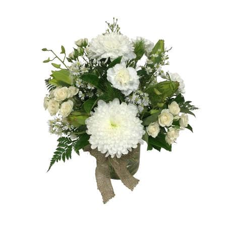 White and Green Posy in a Vase