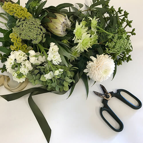 Florist Choice Bouquet in Green and White